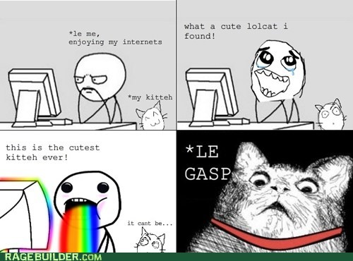 cat,computer soon,gasp,internet,replaced,rainbow