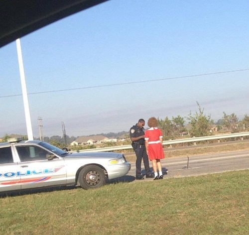 costume,halloween,annie,arrest,pulled over,police,fail nation,g rated