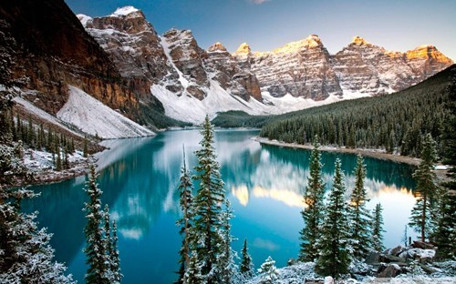 oh canada,landscape,winter,lake
