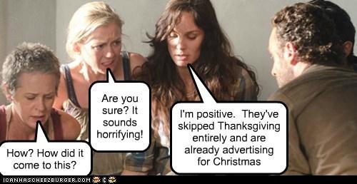 advertising christmas Rick Grimes Andrew Lincoln sarah wayne callies laurie holden melissa mcbride apocalypse carol peletier horrifying lori grimes andrea The Walking Dead - 6724543744