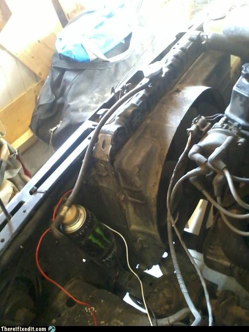energy drink radiator soda can radiator overflow tank monster - 6724652288