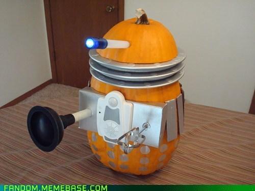 dalek halloween jack o lanterns doctor who pumpkins - 6725235456