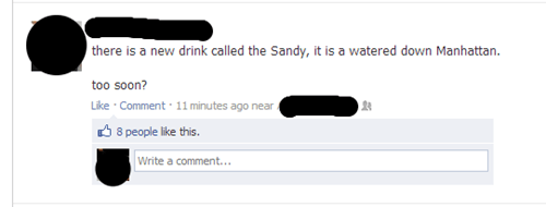 alcohol,watered down manhattan,mixed drink,hurricane sandy,katrina,failbook