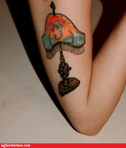 arm tattoos,lamp
