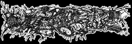 metal band logo illegible