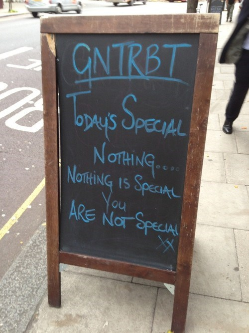 you are not special restaurant sign today's special fight club soup of the day - 6725971200