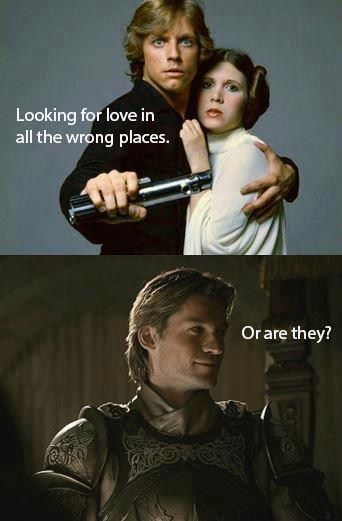 Luke,leia,Lannisters,brothers and sisters