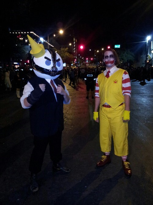 halloween costumes jack in the box McDonald's the joker bane batman - 6726162944