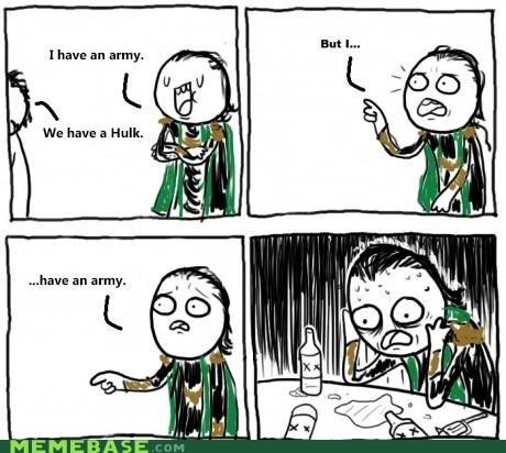 loki,asgard,army,oh god,hulk