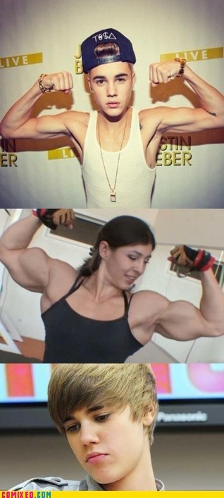 guns,justin beiber,muscles