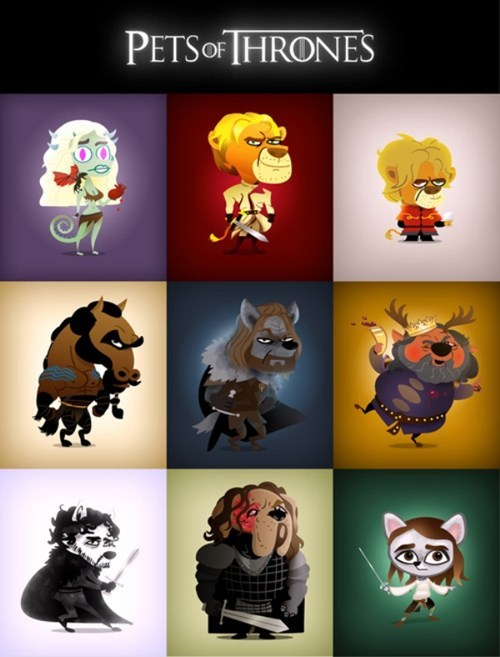 illustrations art pets Game of Thrones TV