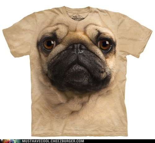 scary face pug shirt dogs