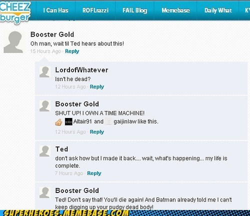 comments,booster gold,batman