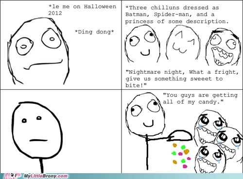 Bronies,halloween,nightmare night,rage comic