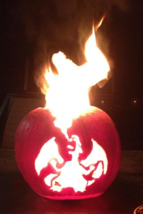 halloween,charizard,amazing,pumpkin carving,ghoulish geeks,g rated