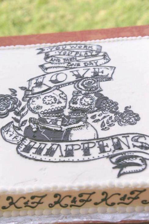 cake,drawing,dia de los muertos,frosting,intricate