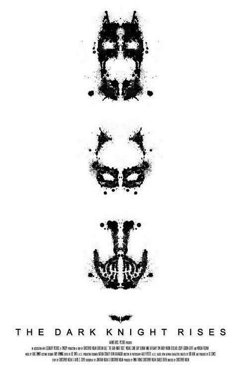 minimalist art poster the dark knight rises Movie batman - 6726800896