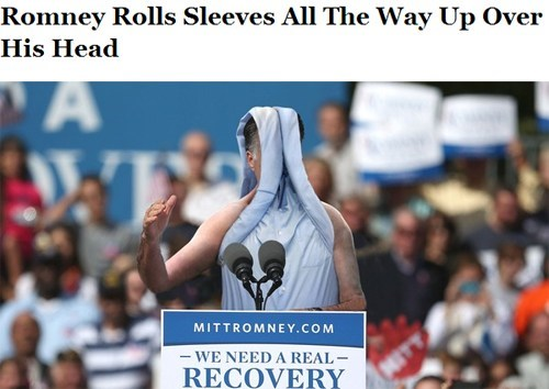 impressive Mitt Romney the onion head expression sleeves