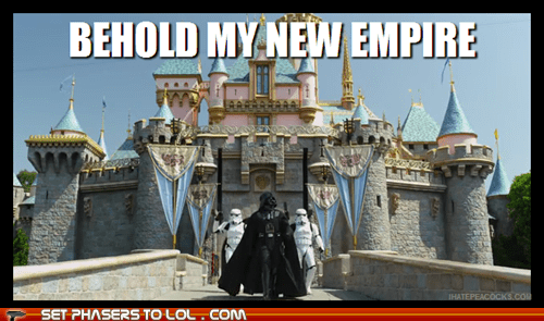 disney castle star wars behold darth vader disneyland