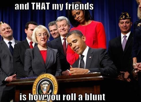 signing marijuana rolling instructions barack obama Michelle Obama weed