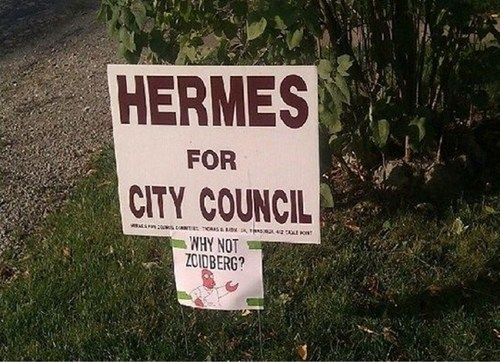 sign,city council,hermes,futurama,Zoidberg