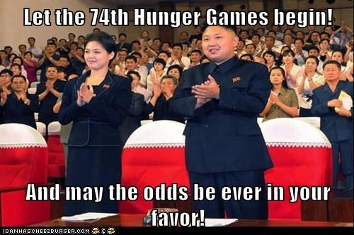 kim jong-un may the odds tradition ri sol-ju hunger games - 6727132928