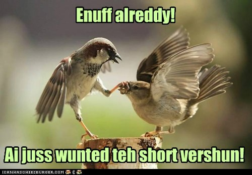 shut up long birds grabbing talking enough - 6727772928