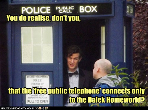 catch,telephone,the doctor,daleks,police box,Matt Smith,doctor who