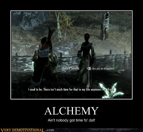 time for dat Skyrim alchemy