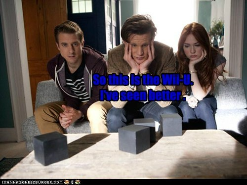 rory williams,karen gillan,wii U,the doctor,not impressed,Matt Smith,doctor who,amy pond,arthur darvill