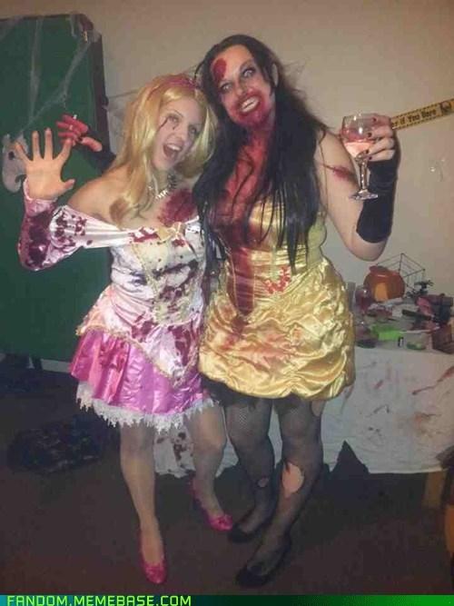 zombie,disney,cosplay,halloween,disney princesses