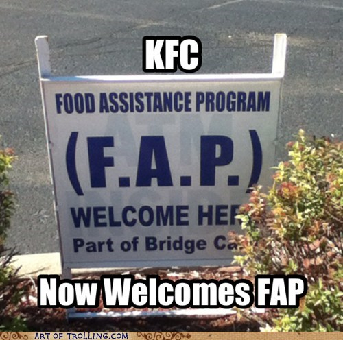 sign fap kfc
