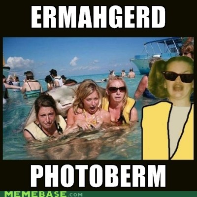 photobomb Ermahgerd sting ray