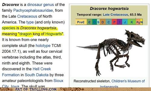dinosaur,wikipedia,Hogwarts
