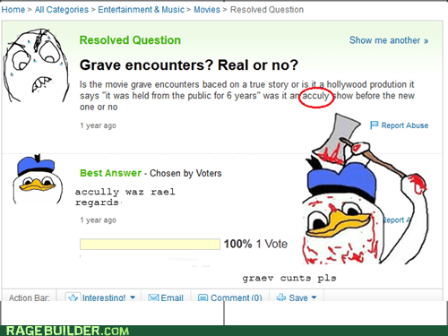 Movie,yahoo answers,grave encounters