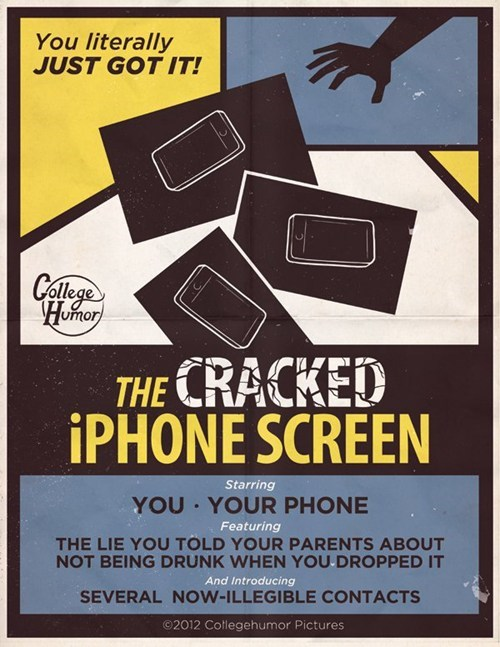 cracked iphone screen college humor the world may never know - 6729028096