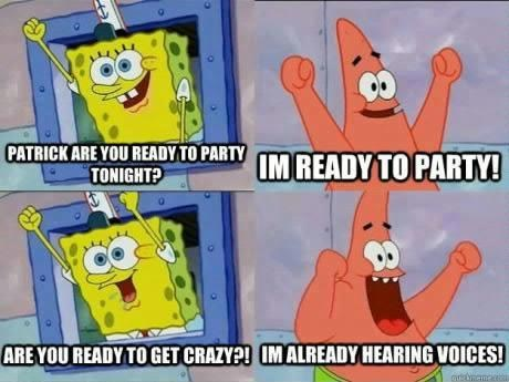 crazy Party SpongeBob SquarePants funny - 6729074944
