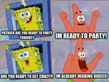 crazy Party SpongeBob SquarePants funny - 6729074944