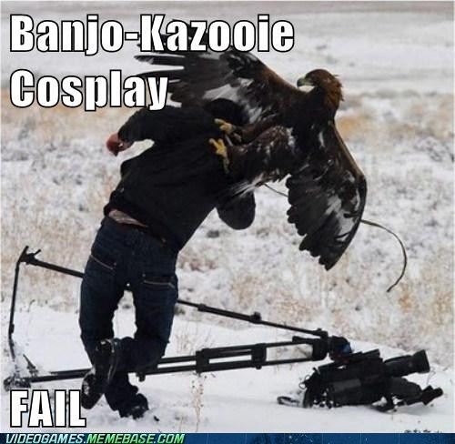 cosplay,FAIL,banjo kazooie