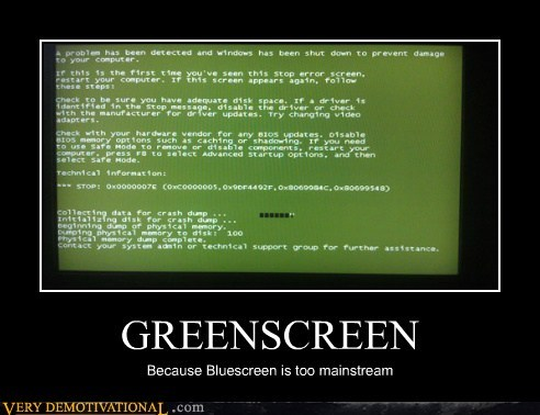 bluescreen,greenscreen,mainstream