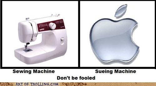 sewing machine,lawsuit,apple