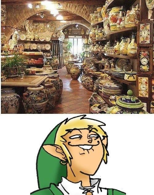 link,jars,pots,zelda