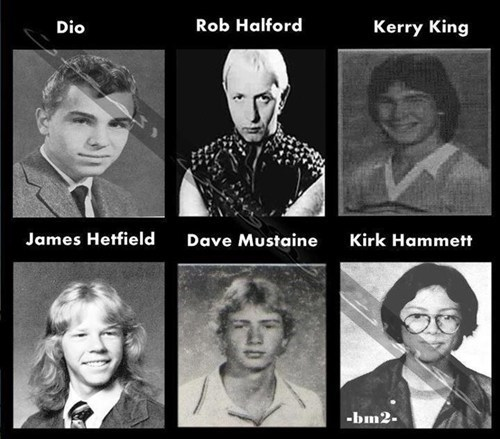 yearbook photos,rock stars