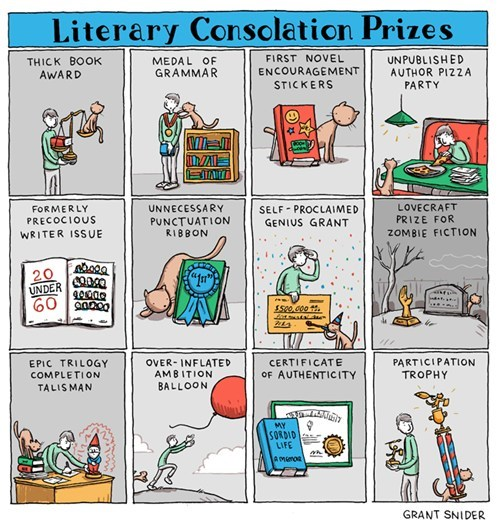 literature,nice to be recognized,literary consolation prized,Incidental Comics