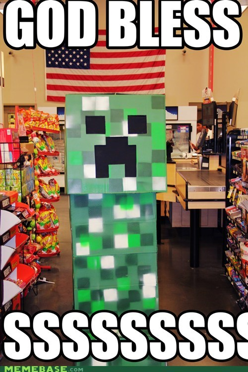 patriotic creeper minecraft sssss - 6729514496