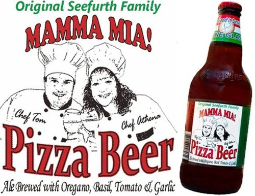 want it now mamma mia disgusting pizza beer