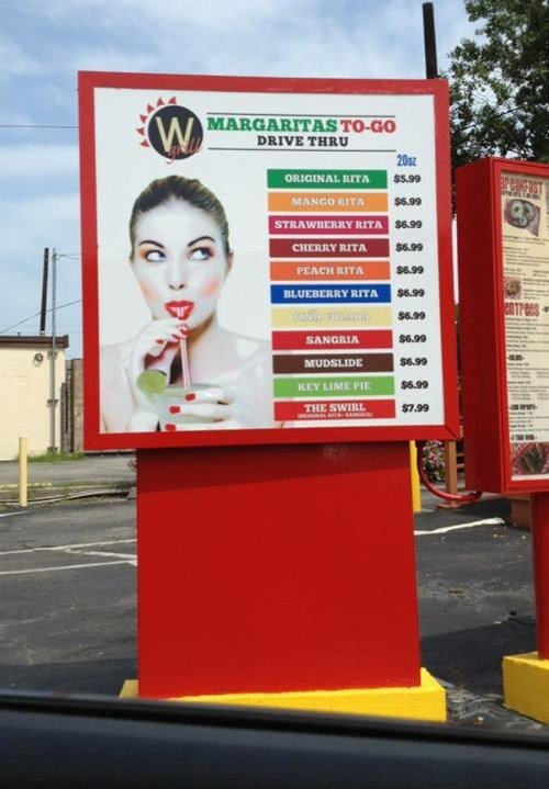 drive thru,margaritas,terrible idea,after 12,g rated
