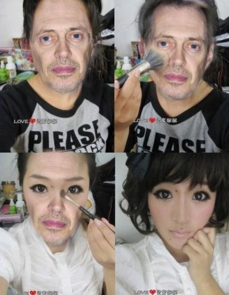 makeup,shopped pixels,steve buscemi,cross dressing,seems legit