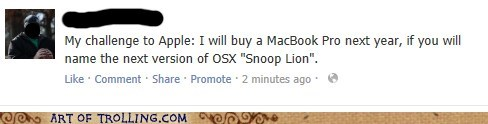 snoop lion Macbook pro apple funny