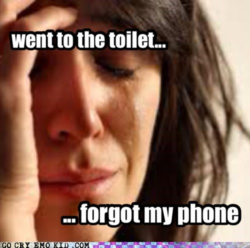 toliet,phone,First World Problems